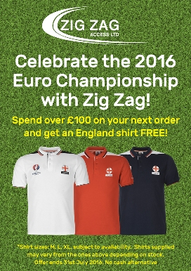 Qualify for a Free Euro 2016 England Shirt When Ordering This July
